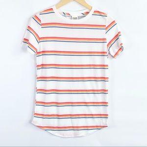 Victoria Secret PINK Striped T-Shirt tee NWT
